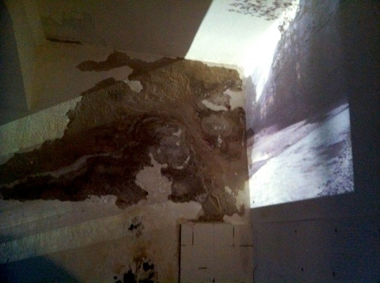 Wand im Zeltraum, Foto: Hanne Lauch